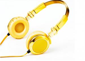 China Mini Wired Headphone with mic , Hight Definition gold Stereo Headset on sale