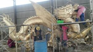 China Outdoor Decorative Casting Bronze Chinese Dragon Statue on sale
