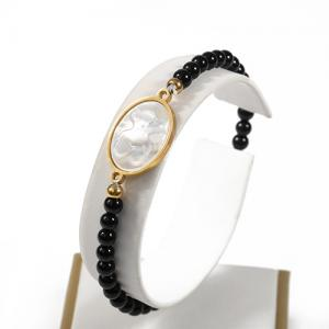 China Stone bead Bracelet With Gold Stainless Steel on sale