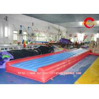 Red PVC Inflatable Air Track ,  Adult Gymnastic Exercise Training Inflatable Air Cushion