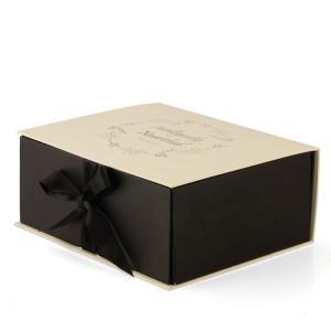 China Handmade Paper Gift Box With Ribbon Closure Custom Logo Eco Friendly on sale