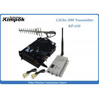 30KM Long Range Wireless Transmitter and Receiver 1.2Ghz  4 Channels Video Sender