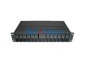 China 2U Fiber Optic Media Converter Rack for 19 inch Rack Mounted Structure on sale