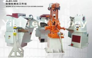 China 生産ライン、80台のprs/時間を作る靴のための自動荒削りのワーク・ステーション on sale