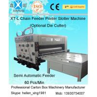 Gear Pumps Auto Chain Feeding Flexo Carton Printing Machines With Grinded Surface