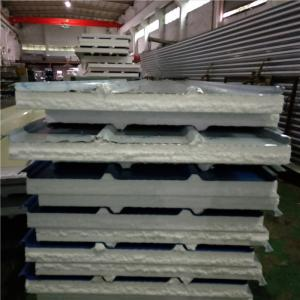 China 14kg stainless steel insulated eps sandwich roof panel 1050 x 75mm for tiny house on sale