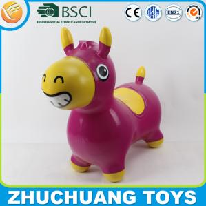 China pvc inflatable jumping giant plastic bouncy horse on sale