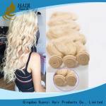 ブロンドのブラジルの毛の織り方100%の人間の毛髪、バージンのレミーの長続きがする毛