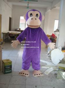 China purple monkey mascot costume, advertising monkey mascot costume on sale