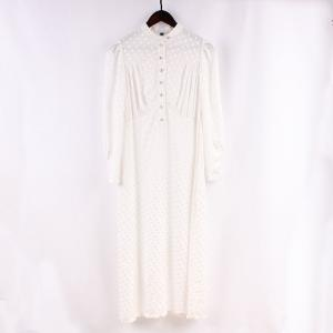 China Rhinestone Buttons Long Sleeves Viscose Rayon Dress on sale