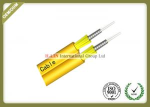 China Tight Buffered Indoor Fiber Optic Cable , Duplex Zipcord Armored Fiber Optic Cable on sale