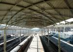 Prefabricated Railway Station Steel Frame Structure With Space Frame Roof