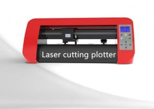 China Red 12'' Sticker Mini Laser Cutting Plotter with Optical Vision Eye System on sale