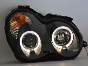BENZ W203 C-class headlight assembly led guide + HID xenon