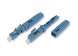 China LC Quick Connector , Single Mode Fiber LC Connector For Flat FTTH Cable on sale