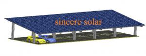 China Double Rows Double pole Solar Carport Mounting System on sale