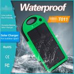 5000mAh Solar Panel Power Bank for Samsung Galaxy S4 S5 outdoor using IP65
