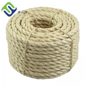 China Wholesale 3 strand twisted 10mm natural sisal rope from manufacturer on sale