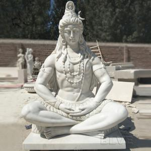China Marble Lord Shiva Statue Buddha Sculpture Garden Hand carved Life Size India God on sale