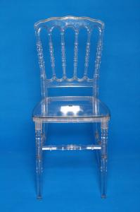 China Modern Armless Carbonate Resin Napoleon Chair / Clear Waterproof Resin Acrylic Chair on sale