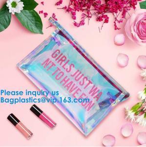 China Customize New Fashion Hologram Cosmetic PVC Bag Holographic Makeup Bag Ladies Makeup Bag on sale