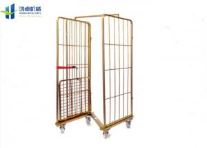 China Warehouse Wire Cage Trolley 2 Side Folding 500-1000kg Load Capacity on sale