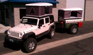 China CE Approved Hard Shell Roof Top Tent , Jeep Wrangler Tents For Camping on sale