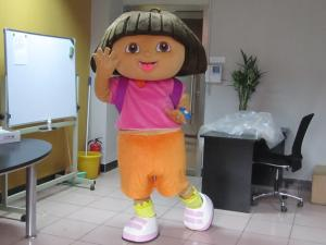 Quality Custom Girl Cartoon Character Dora Mascot Costumes  for sale