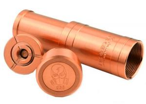 China Missile 18650 mod copper plated copper pin electronic cigarette missile mod with lock key on sale