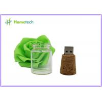 16GB Wooden USB Drive Creative Promotional Crystal Message Bottle Shape