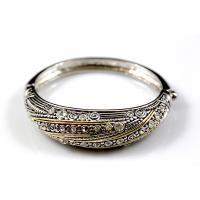 Engagement animal printed texture silver china metal bangle trendy jewelry wholesale