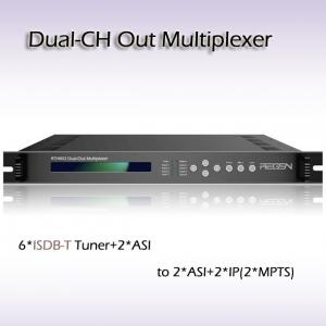 China RTS4002 DVB Multiplexer 8-Channel Multiplexer DVB ASI Processor Function of re-multiplexing on sale