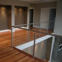 China Modern stainless steel cable railing system with square /round handrails on sale