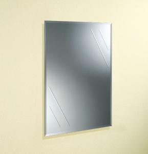 China Wall Mounted Clear Square Decorative Glass Mirrors For Bathroom Decorating on sale