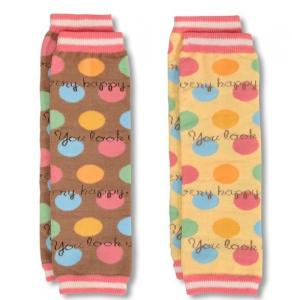 China Cute Snagging resistance Baby Cotton Knitted Ball protect arm warmer with dotted on sale