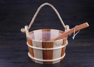 China Handcraft Sauna Water Pail Bucket and Ladle Set For Dry Sauna Accessories on sale