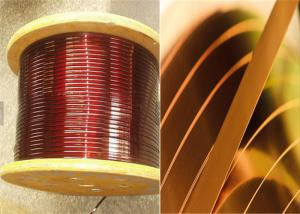 China 0.02 - 1.8mm Square Copper Wire , Enamelled Rectangular Magnet Wire For Smart Phones on sale