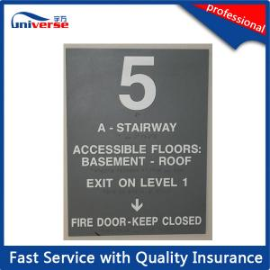 China PP / ABS / PVC Basement Caution Engraved Plastic Signs With Customized Printing on sale