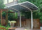 Uv Resistant Clear Roof Carport , Oem Sheet Carport With Polycarbonate Roof