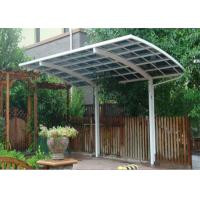 China Aluminum Carport Canopy Uv Resistant Polycarbonate Sheet Roof Long Life Time on sale