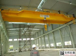 China 50 ton / 10 ton Double Girder Overhead Crane With 2 hook on sale