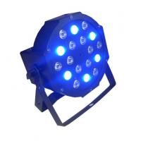 18 x 3w RGB Led Flat Par Light / Led Par 64 Indoor Stage Dj Lights 7CH DMX
