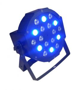 China 18 x 3w RGB Led Flat Par Light / Led Par 64 Indoor Stage Dj Lights 7CH DMX on sale