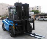 2 Stage / 3 Satge Mast Diesel Forklift Truck 12 Ton 7000mm Max Lift Height