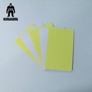 China Plain Sticker PVC Business Cards Printable Plastic Cards Adhesive Blank With Layer on sale