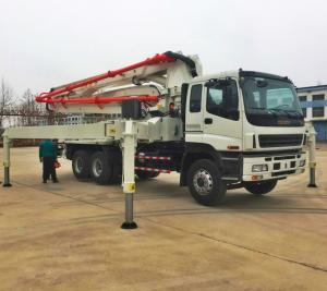 China China truck mounted concrete pump, 28,32,37,42,48,52m ISUZU Concrete Pump Truck on sale
