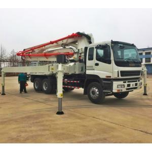 China China truck mounted concrete pump, 28,32,37,42,48,52m ISUZU Concrete Pump Truck on sale