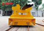 Unlimited Distance Motorized Rail Cart , Storage Battery Motorized Rail Cart Industry Turning Bogie