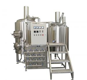 China 500L Semi Automatic Small Brewery Equipment Two Vessels With Steam Condenser on sale