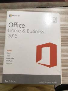 China Microsoft Office 2016 Home And Business Retail Box For Mac 1 User on sale